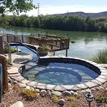 Riverbend Hot Springs right next to the Rio Grande