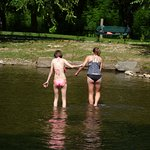 Wading at Oconaluftee Islands Park