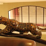 A Leopard sculpture in the foyer area