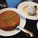 Amazing kunafa and pistachio gelato