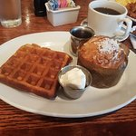 Waffle and passion fruit muffin