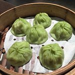Steamed Soup Filled Dumplings with Dried Scallops, Pork & Luffa