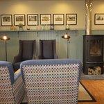Comfy sofa and log burner