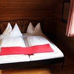 Doppelbett im Wohnbereich