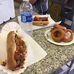 State Fair Dog and Onion Rings