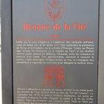 Panneau sur l'Histoire de la Cité