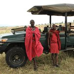 Our Maasai guide and spotter - two great guys
