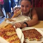 Cheese pizza, upside down pizza and cheesesteak....we couldn't narrow it down to one!