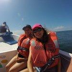dans le bateau en route pour Tortuga Island