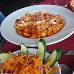 Penne chicken and spicy sausage