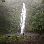 A crazed traveller (me) enjoying her thunderstorm in the Jungle by 3rd Waterfall (On Site)