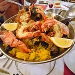 Royal Paella with Seafood and 1/2 Lobster
