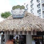 Photo taken as we were approaching Salty's Tiki Bar