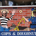 Fun photo opportunities at Cops & Doughnuts