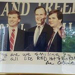 In my review I incorrectly stated there were no photos of one of the founders Lee Atwater, I mis