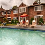 Enjoy our seasonal outdoor heated pool and spa