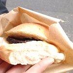 Black pudding sandwich