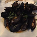 Sweet + Spicy Coconut Curry Mussels, Lentils, Cilantro, Grilled Peasant Bread