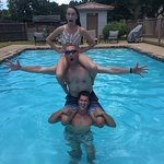 Family Totem Pole in the Pool!!!