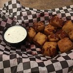 Deep fried bacon cheese curds