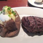 8 oz Sirloin and Baked Potato, Black Angus Steakhouse, Milpitas, CA