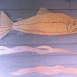 Salmon bas relief