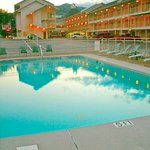 Swimming at night under the warm mountain air is great & there's plenty of parking!
