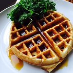Waffle with Almond Butter
