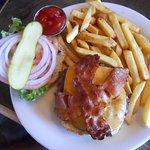 Cheddar and bacon burger