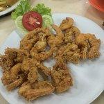 Fried prawn with flour