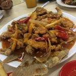 Ikan Gurame with sweet sour sauce