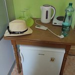 Small fridge and water cooker