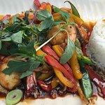 Sauté basilic crevettes