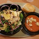 My Fuji Apple Chicken Salad and Tomato Soup You Pick 2 Combo at Panera Amherst, OH