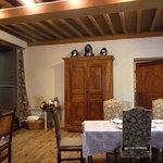 Salle à manger pour un dîner médiéval