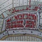 Sint Laurenskerk op een oude kaart van voor de omwalling