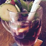 Blackberry and elderflower Pimms. Just what was needed after the hike! :))