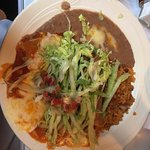 Taco and Enchilada Lunch Combo Plate