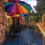 Pepe Serrano's Outdoor Seating After a Rainstorm