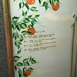 Inside of the elevator door at the citrus tower