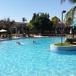 Parte da piscina do hotel, é maravilhoso lá.