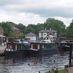 A view of the Telford Inn from Trevor Basin.