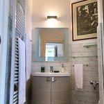 Lake view room bathroom at  La Chiave di Volta Location of Casa Stacy