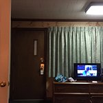 You can't even see the tv from the bed. I guess we are supposed to be grateful we even had a tv.