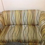 Worn out sofa