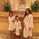 My granddaughters at Spa Grande