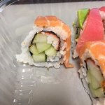 Sushi was fresh, there just wasn't much of it. $12 for a Rainbow Roll (for lunch) that had very