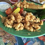 delicious clams, scallops, shrimp & fish with fries.