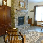 Applewood Cottage living room with fireplace