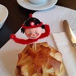 Breakfast bun celebrating Swiss National Day (1st of August)